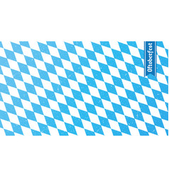 Traditional oktoberfest rhombus blue and white vector