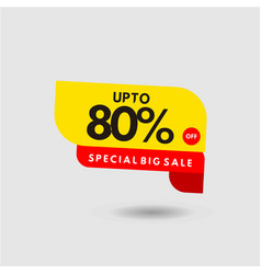 up to 80 special big sale label template design vector image