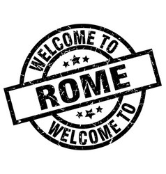 welcome to rome black stamp vector image