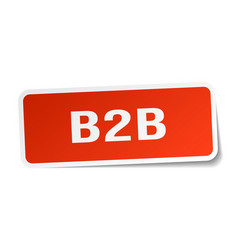 B2b square sticker on white vector