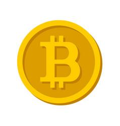bitcoin sign logo vector image vector image