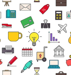 Business colorful pattern icons vector image