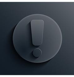 dark circle icon Eps10 vector image