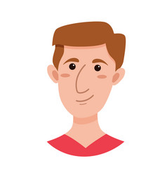 male emoji cartoon character vector image vector image