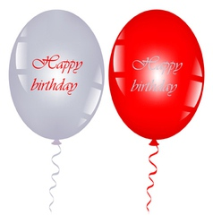 red and gray balloons vector image