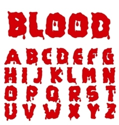 Red blood alphabet vector image vector image
