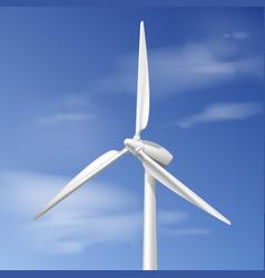 single wind turbine vector image