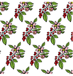 coffee flowers vector image vector image