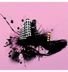 grunge cityscape vector image vector image