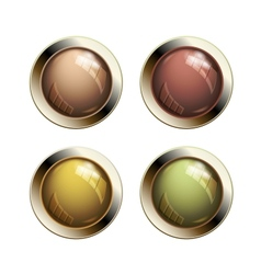 Old shiny buttons vector image vector image