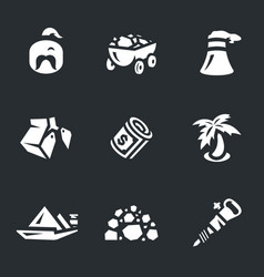Set of coal icons vector