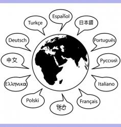 world language vector image
