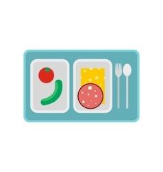 Airplane lunch icon vector
