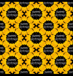 autumn seamless pattern with leaf vector image vector image