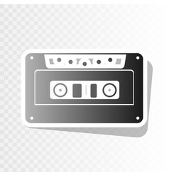 cassette icon audio tape sign new year vector image vector image