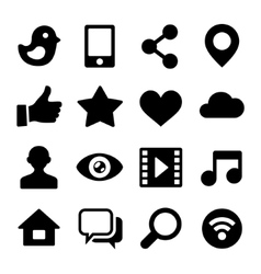 Communication Social Network Icons Set for Web vector image vector image
