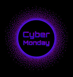 cyber monday sale concept banner neon burst vector image vector image