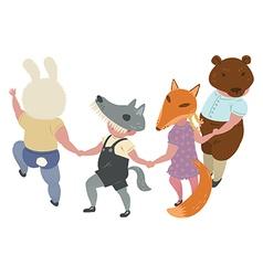 Dancing-Children vector image