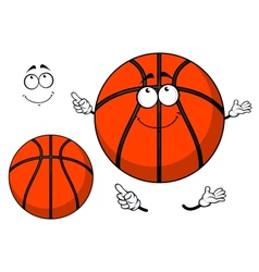 Smiling cartoon basketball ball with a cute grin vector image vector image