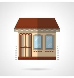 Store building flat color design icon vector image vector image