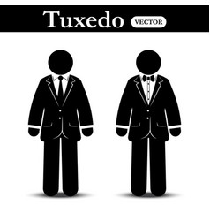business suit and tuxedo suit vector image vector image