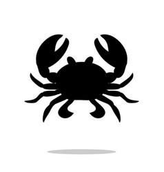 crab black silhouette aquatic animal vector image