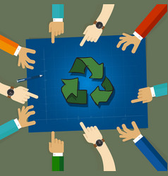 recycling plan strategy on environmentally vector image vector image