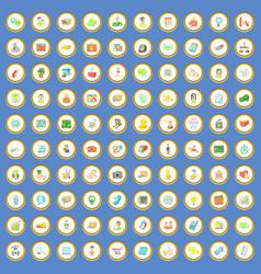 100 business icons set cartoon vector