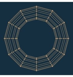 Abstract decorative frame Mesh poligonal vector image