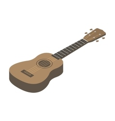 Acoustic bass guitar icon in cartoon style vector image