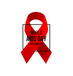 Aids awareness day background vector