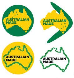 australian made or made in australia logos vector image