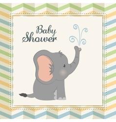 Baby Shower elephant Pastel design vector