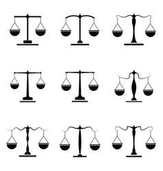 Balance icon set vector