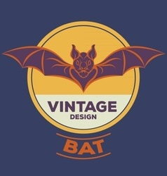 Bat logo vector