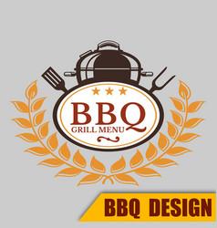 Bbq menu grill image vector