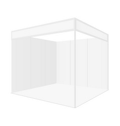 Blank exhibition booth for show fair isolated vector