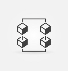 block-chain technology concept icon vector image
