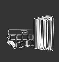 book icon monochrome style vector image