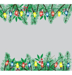Branches lights snow vector