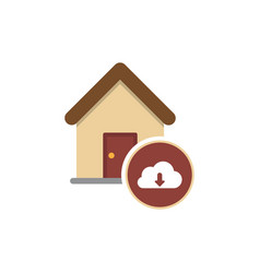 Cloud house housing home residence residential vector