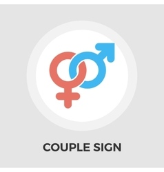 Couple sign Flat Icon vector
