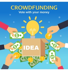 Crowdfunding vector
