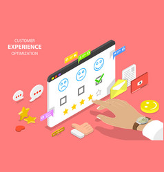 Customer experience optimization isometric flat vector