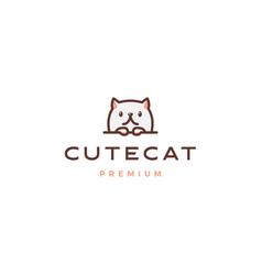 cute cat logo icon cartoon vector image