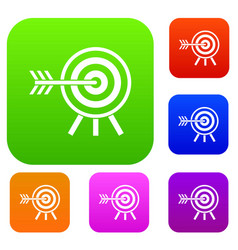 darts set collection vector image