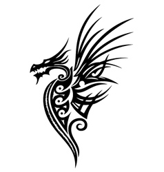 Dragon fantasy vector image