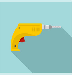 drill icon flat style vector image