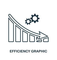Efficiency decrease graphic icon mobile app vector