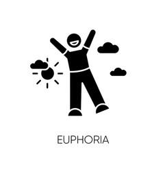 Euphoria black glyph icon vector